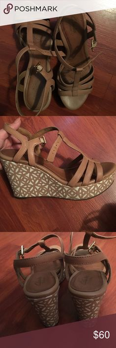 Sandal wedges Wedges bought from Clarks. Cute and comfy Clarks Shoes Wedges