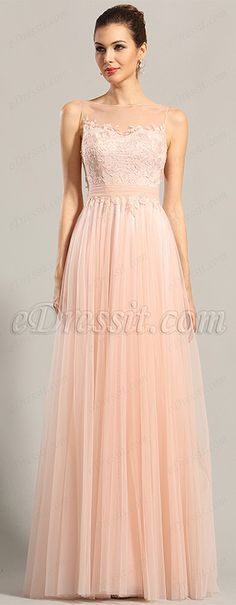 Pink gown with fancy tulle skirt! #edressit #fashion_dress #formal_gown #women