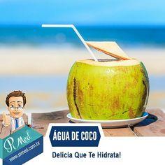 A água de coco é fonte de sais minerais e tem baixo teor de açúcar sódio e gordura. Por isso ela é uma ótima alternativa para hidratação além de ser uma delícia. Quem quer matar a sede? #aguadecoco #matarasede #saude #pimed