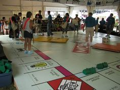 Big Monopoly. This would be so fun to play, and someone could dress up the the monopoly man!