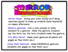 Are you ready for some more Whole Brain Teaching treats? This post will cover 2 techniques: Mirror and Switch. Let's start with Mirro. Behaviour Management, Behaviour Chart, Classroom Management, Whole Brain Teaching, Teaching Music, Teacher Binder, Teacher Hacks, Teaching Strategies, Teaching Tips