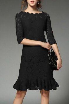 #AdoreWe #Dezzal Dezzal Mermaid Lace Dress - AdoreWe.com
