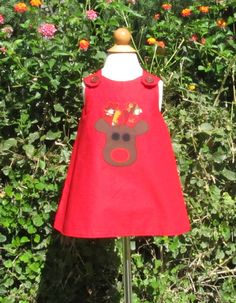 Baby Girl Custom Christmas Dress by TootandPuddle on Etsy, $30.00