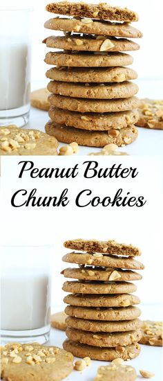These Vegan Peanut Butter Chunk Cookies are sweet and salty, crispy on the outside and melt in your mouth! Vegan and gluten free! with a refined sugar free option. / TwoRaspberries.com