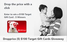 Enter to win a FREE $100 Target Gift Card from Dropprice.com! Click through for all the details -- they are giving away 5 gift cards to my readers!