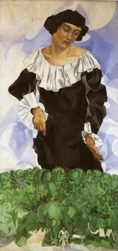 Белла с белым воротником 1917 - Марк шагалBella with white collar 1917  - Marc Chagall