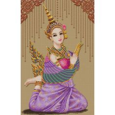 Photo cross stitch Dramatic Art Thailand.