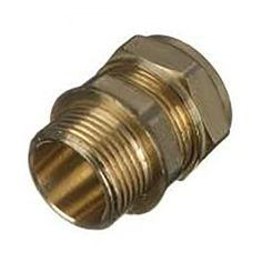 Wickes Brass Compression Male Iron Coupler - x