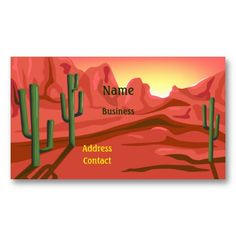 Shop Desert Sunset Red Rock Business Card created by windyone. High Quality Business Cards, Desert Sunset, Deserts, Things To Come, Rock, Create, Prints, How To Make, Color