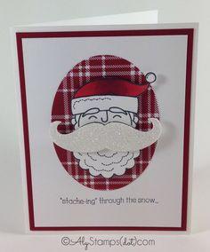 Santa Stache with Mustache Framelit Big Shot Die