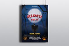 Halloween Party Flyer Template  Advertisement