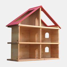 Schöllner Puppenhaus aus Holz, Puppenstube massive Erle | Echtkind