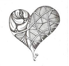 Tangle doodle heart by susanwalkerart, via Flickr