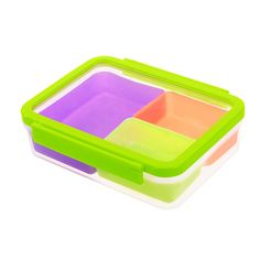 Colorful Lunchbox for Kids - 3-Compartment Leak Proof Bento Lunch Box Container