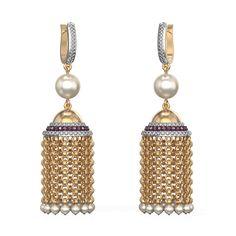 Cascading Pearls Jhumkas Buy Best Diamond Jewellery Online