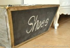 A great idea for those regularly warn shoes that are always by the door.