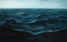 i'd love to have a gigantic version of this for above the couch (fathom painting no 1 by oliver jeffers)
