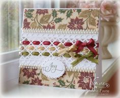 beautiful card with a great tutorial
