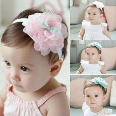 Hair Accessories Baby & Toddler Clothing Persevering 6pcs Cute Kids Girl Baby Chiffon Toddler Flower Bow Headband Hair Band Headwear