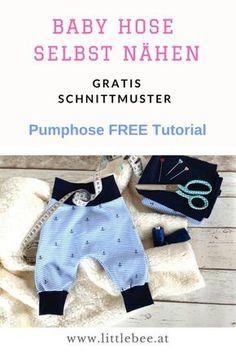 Baby Pumphose ganz einfach selbst genäht GRATIS Nähanleitung und Schnittmuster von littlebee.at