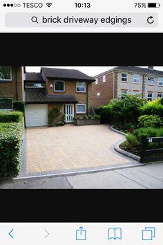 Block paving driveway - All For Garden Block Paving Driveway, Modern Driveway, Brick Driveway, Driveway Design, Circular Driveway, Front Yard Design, Driveway Landscaping, Landscaping Ideas, Driveway Ideas