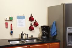 Keep the office break room organized with Command™ Products