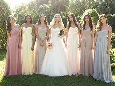 Bridesmaid+Dresses+by+Color | Keep the bridesmaid's dress style the same and allow the girls to ...