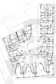 Image 21 of 25 from gallery of Edificio 111 / Flores Architecture Drawings, Architecture Plan, Architecture Details, Hotel Floor Plan, Museum Plan, Floor Plan Drawing, Site Plans, Apartment Plans, Ground Floor Plan