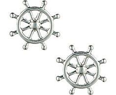 Ship helm earrings