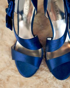 Royal blue shoes for the bride! {Hearts and Horseshoes Photography; Shoes by Kelly and Katie}