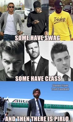 Andrea Pirlo has his own fashion statement