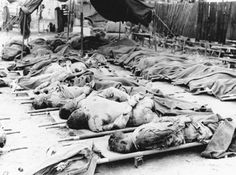 "KOREA: ""The bodies of these murdered American soldiers were recovered as the UN forces pushed north out of the Pusan Perimeter. They were all killed while their hands were bound behind their backs. North Vietnam, Vietnam War, The Real World, World War Two, Combat Medic, Man Of War, Canadian History, War Photography, Korean War"