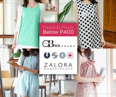 Who says being stylish need to be expensive? These fashion finds below P 400 are such a steal!  Visit http://marketplace.zalora.com.ph/usoplus now!