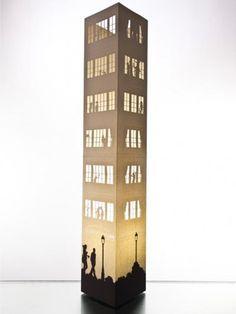 W-Lamp Designová papírová lampa 164_SKY
