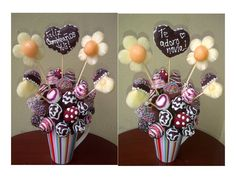Full chocolate, full color! Todas las fresas son decoradas con chocolate, coronado con corazones de piña con chocolate y flores de piña con centro de melón