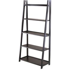 Adam 5-Shelf Bookshelf, Black