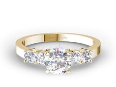 Four Stone Diamond Engagement Ring In Yellow Gold