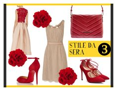 LOOK PER WEEKEND FUORI: da sera by modaborse-net on Polyvore featuring moda, Valentino, Monique Lhuillier, Christian Louboutin, Giorgio Armani, alvieromartini and modaborse
