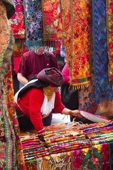 Otavalo stallholder Ecuador
