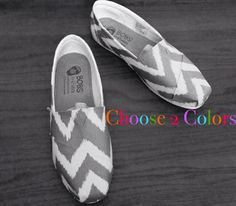 Chevron BOBs or TOMs. Choose 2 Colors. SHOES are by M8d4uArt, $55.00 starting price.   Choose your own colors #Easter #chevron #chevronoutfit
