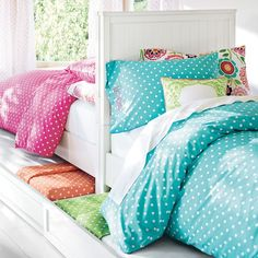 Beadboard Basic Bed + Trundle | PBteen
