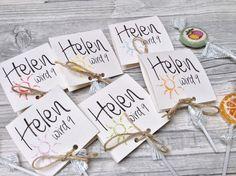 Einladungskarten zum Kindergeburtstag inkl. Lollies Sonne oder Stern
