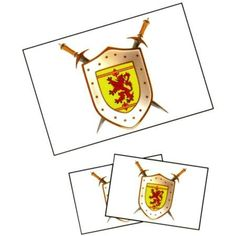 Flag It Scotland With Lion Shield Tattoos - Pricefalls.com
