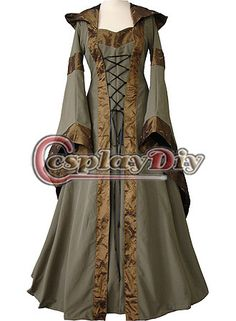 Custom Made Maria Olive Green&Copper Medieval Renaissance Victorian Dress Costume For Gothic And Fantasy Parties-in Costumes from Apparel & Accessories on Aliexpress.com