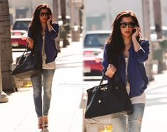 beautiful.woman.fashion.outfit.blue.high.heels. <3