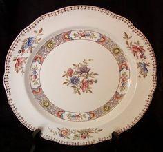 Spode Copeland NIGEL Aesthetic Brown Transfer - Hand Painted Cabinet Dinner Plate #Bonanza