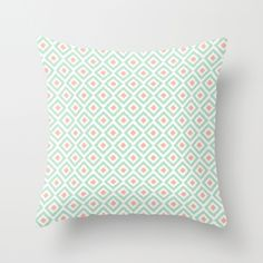 mint and coral throw pillows - Google Search