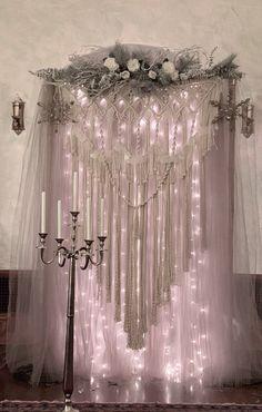 Wedding Backdrop Rentals, Wedding Ceremony Backdrop, Arch Wedding, Elegant Wedding, Wedding Blog, Wedding Backdrops, Wedding Ideas, Hanging Wedding Decorations, Large Macrame Wall Hanging