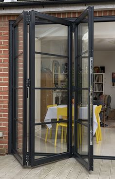 Seamless transition to outside French Doors Patio, Patio Doors, Door Design, House Design, Gazebos, House Extension Design, Seamless Transition, Balcony Design, Folding Doors