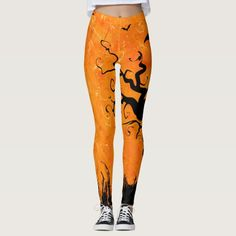 Halloween horror evening leggings #halloween #holiday #creepyhollow #women #womensclothing